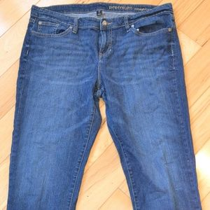 Gap jeans 14 premium straight crop cuffed